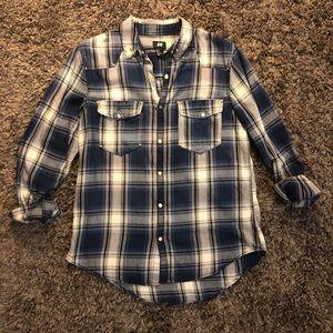 H&M Plaid Button Up Top